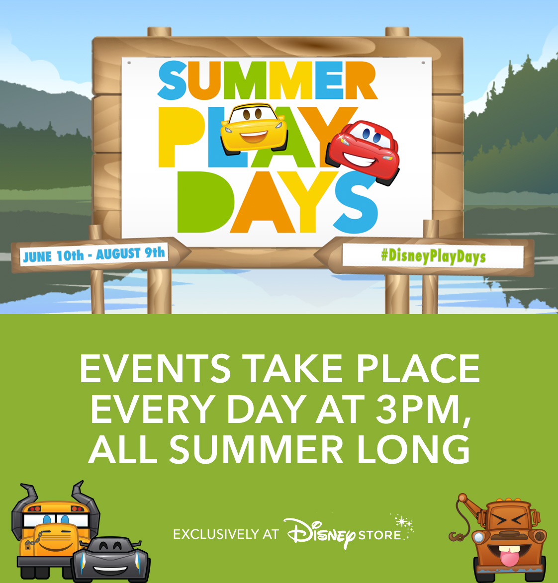 Events Take Place Every Day at 3PM, All Summer Long