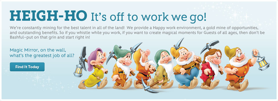 Heigh-Ho - It's off to work we go! - Disney Careers