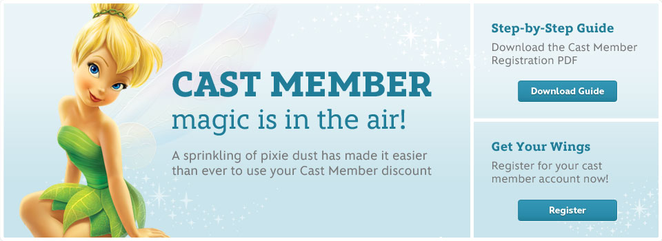 Cast Member magic is in the air - A sprinkling of pixie dust has made it easier than ever to use your Cast Member discount
