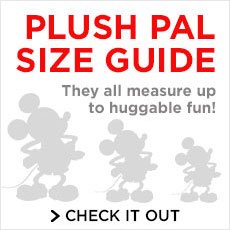 Plush Pal Size Guide - They all meausre up to huggable fun - Check it out