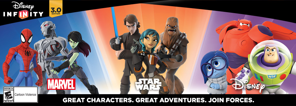 Disney Infinity 3.0 Edition - Great Characters. Great Adventures. Join Forces