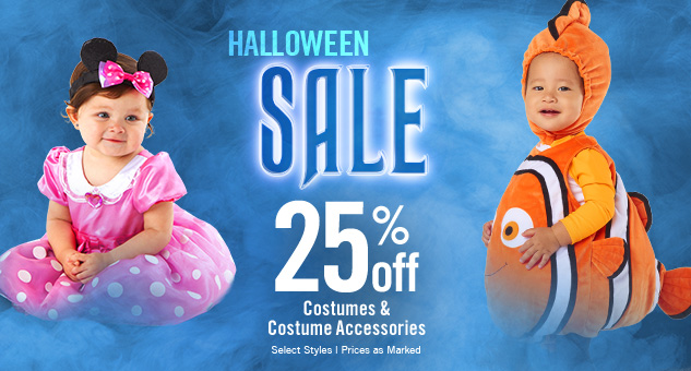 25% Off Costumes & Costume Accessories