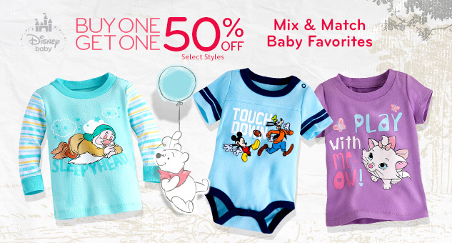 Buy One, Get One 50% Off on Baby Favorite Tees, Bodysuits & Sleepwear