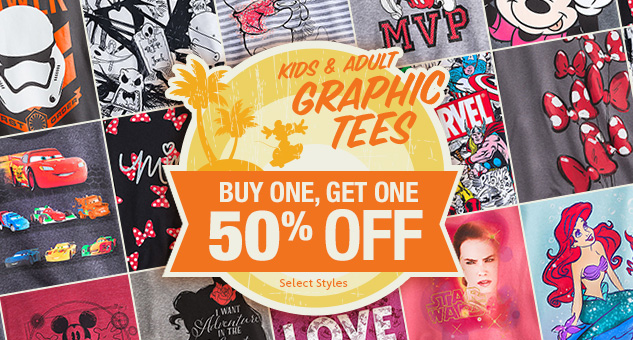 Graphic Tees for Kids & Adults! Buy One, Get One 50% Off