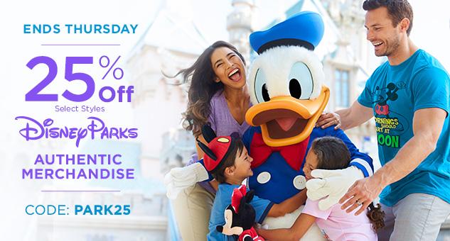 25% Off Disney Parks Merchandise CODE: PARK25
