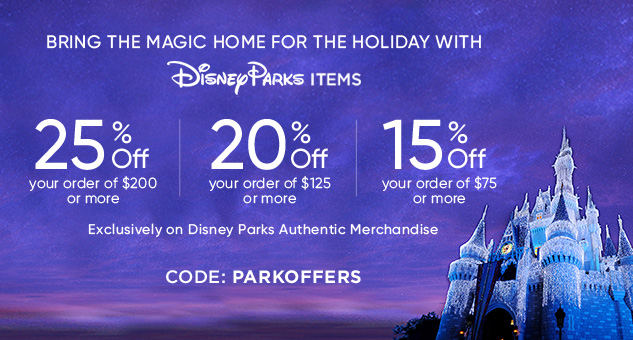 Up to 25% Off Disney Parks Items CODE: PARKOFFERS