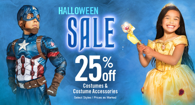 25% Off Costumes & Costumes Accessories