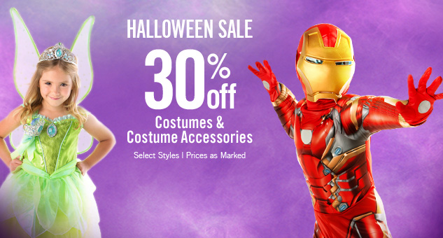 30% Off Halloween Costumes & Costume Accessories