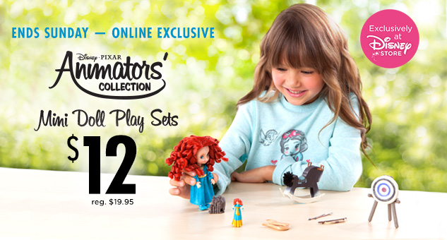 Mini Animators' Doll Play Sets for $12