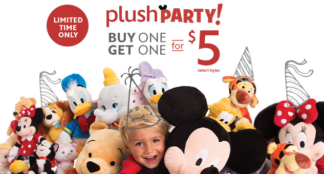 Plush Buy One, Get One for $5