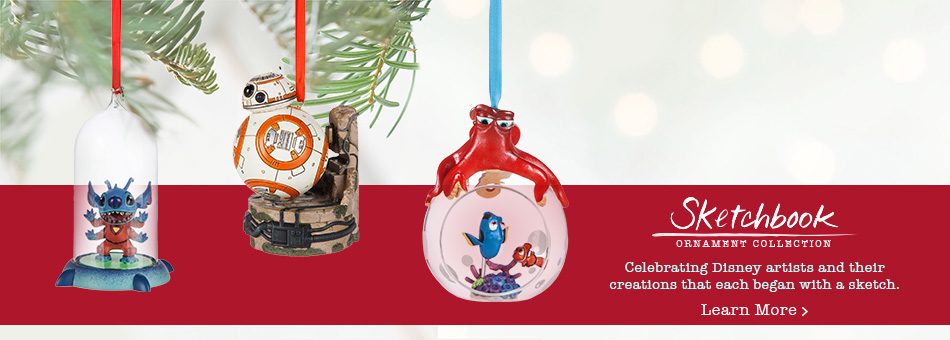 Sketchbook Ornament Collection - Celebrating Disney artists and their creations that each began with a sketch. - Learn More