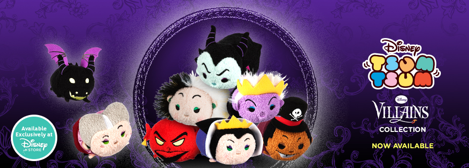 Disney Tsum Tsum - Disney Villains Collection Now Available - Available Exclusively at Disney Store