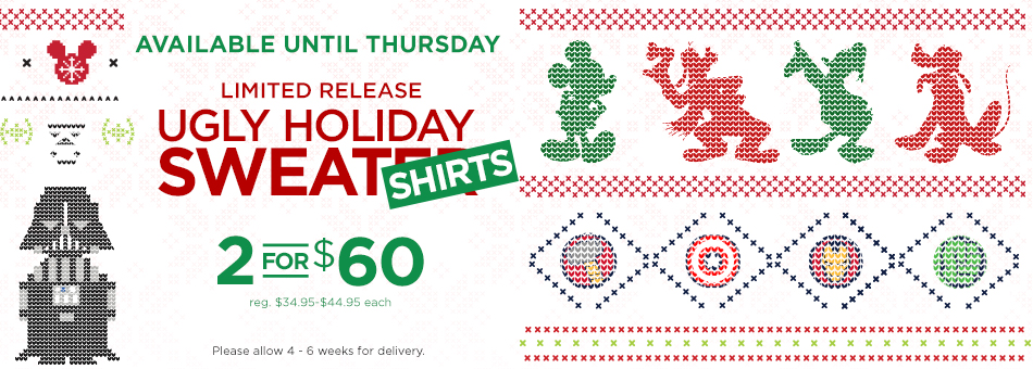 Limited Release Ugly Holiday Sweatshirts