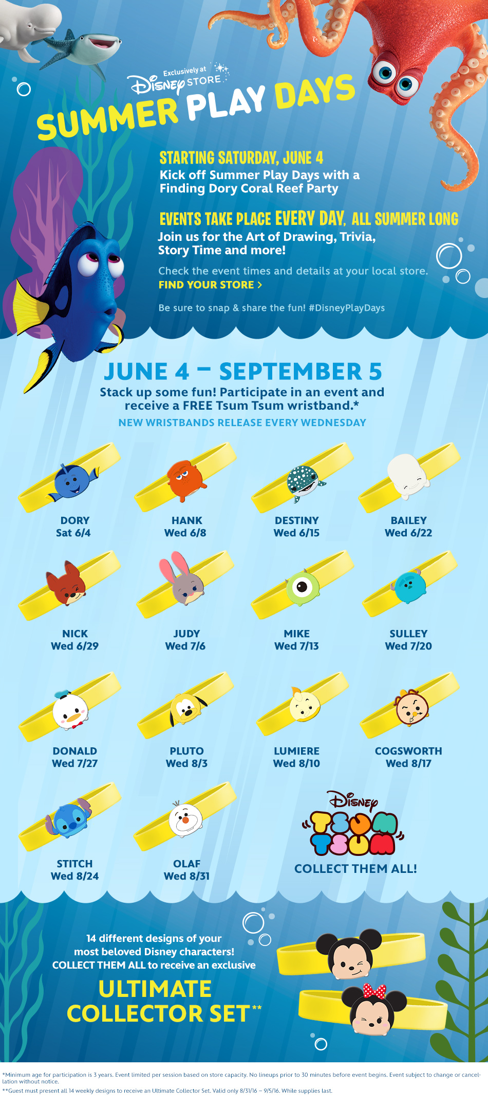 Summer Play Days - Starting Saturday, June 4 - Events take place every day all summer long - Check the event times and details at your local store.