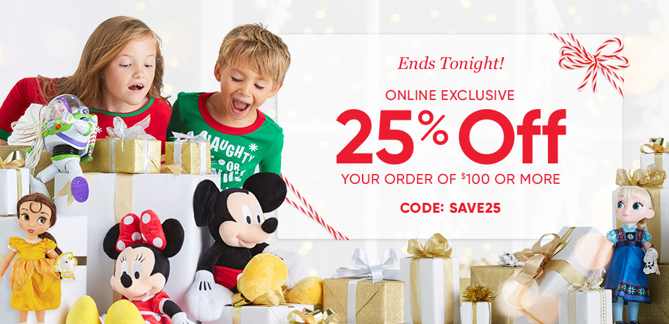Ends Tonight! - Online Exclusive - 25% Off Your Order of $100 or More - CODE: SAVE25