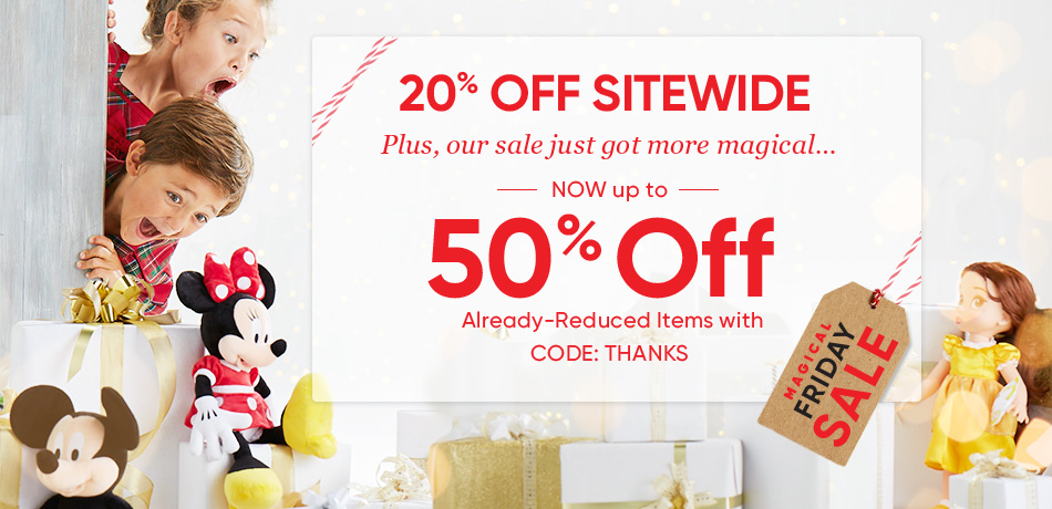 Disney Store Black Friday Sale: 20% Off Sitewide