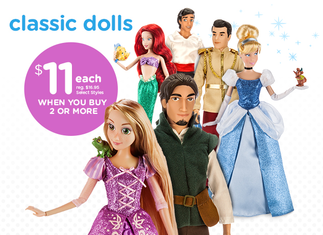 Classic Dolls! Buy 2 or More for $11 each