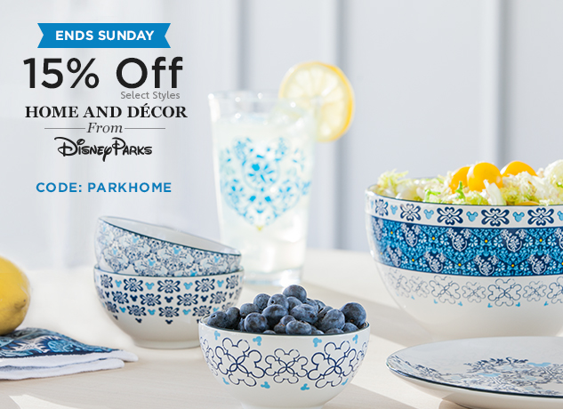 Disney Parks Home & Decor 15% Off