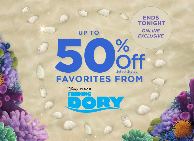 Up to 50% Off Finding Dory Favorites