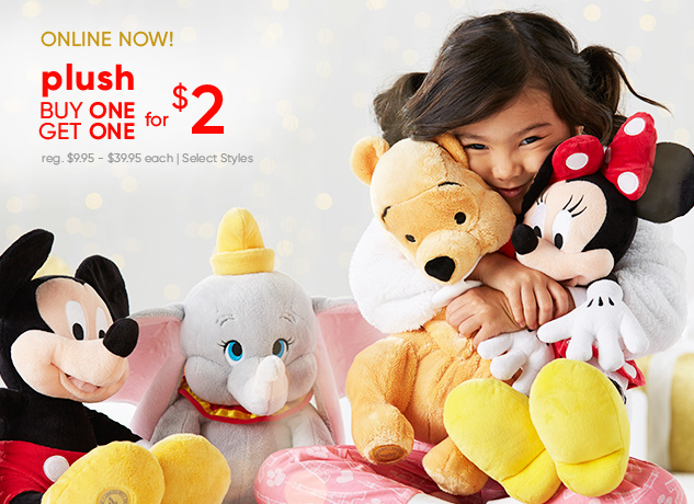 PLUSH! Buy 1, Get 1 for $2