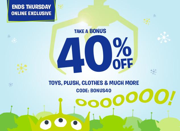 Take a BONUS 40% Off Select Styles! CODE: BONUS40