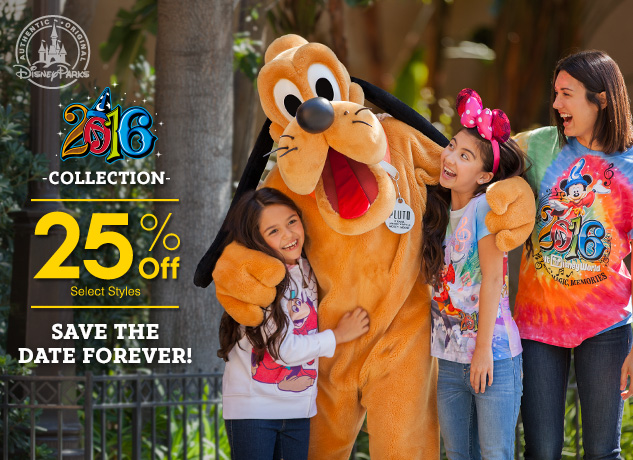25% Off Parks Dated 2016 Items