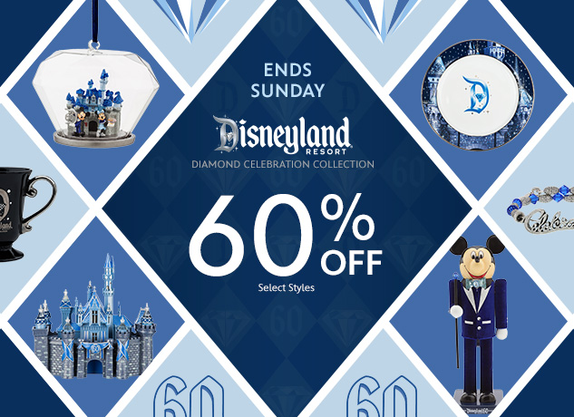 60% Off Disneyland Diamond Celebration Items