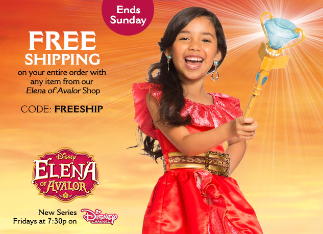 Free Shipping with any Elena of Avalor Item CODE: FREESHIP