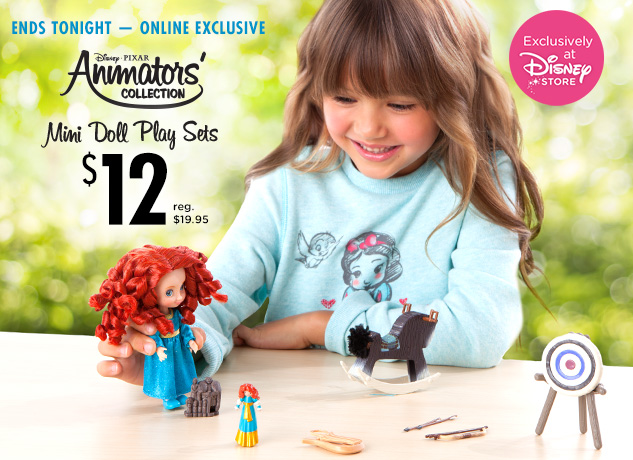 $12 Animators' Collection Mini Doll Play Sets
