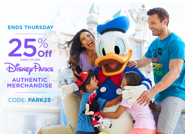 25% Off Disney Parks Authentic Merchandise CODE: PARK25