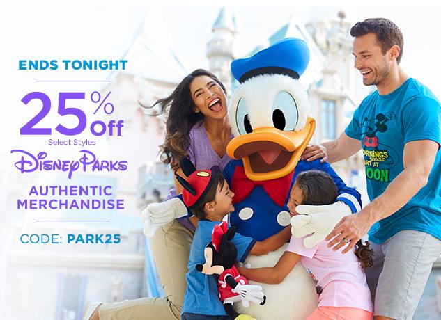 25% Off Disney Parks Authentic Merchandise CODE: PARK25