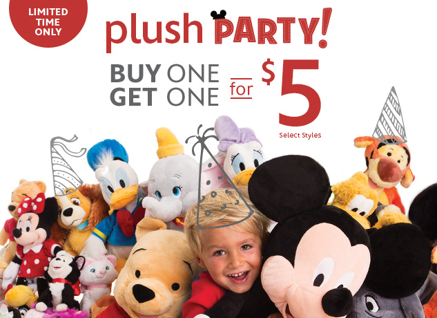 DISNEY PLUSH PARTY! Buy 1, Get...