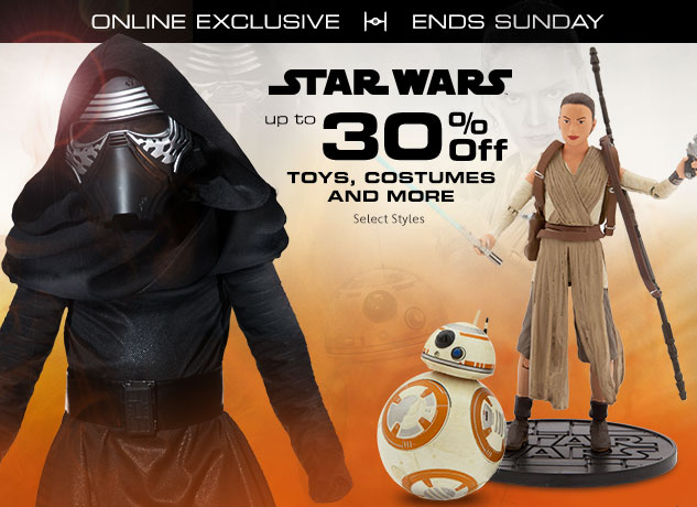 Up to 30% Off Star Wars