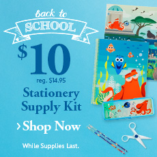 Back to School - $10 Stationery Supply Kit - reg. $14.95 - Shop Now - While Supplies Last.