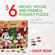 $6 Mickey & Friends Holiday Puzzle