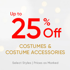 Up to 25% Off Costumes & Costume Accessories