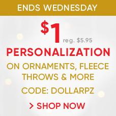 $1 Personalization | CODE: DOLLARPZ