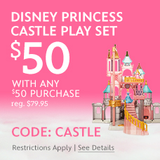 Disney Princess Castle Play Set - $50 with any $50 Purchase - reg. $79.95 - CODE: CASTLE - Restrictions Apply. See Details