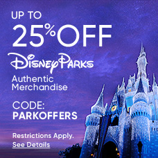 Up to 25% off Disney Parks Authentic Merchandise - Code: PARKOFFERS - Restrictions Apply. See Details