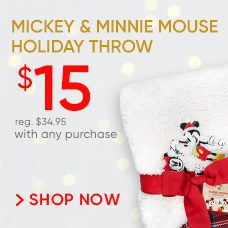 Mickey & Minnie Mouse Holiday Throw | $15 With Any Purchase