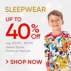 Sleepwear Up to 40% Off