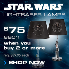 Star Wars Lamps $75 each when you buy 2 or more
