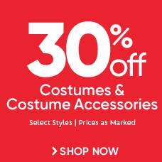 30% Off Costumes & Costume Accessories