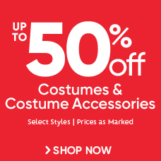 Up to 50% Off Costumes & Costume Accessories