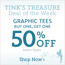 Tink's Treasure - Deal of the Week - Graphic Tees - Buy One, Get One 50% Off - Select Styles - Shop Now