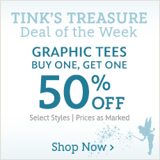 Tink's Treasure - Deal of the Week - Graphic Tees - Buy One, Get One 50% Off - Select Styles - Prices as Marked - Shop Now