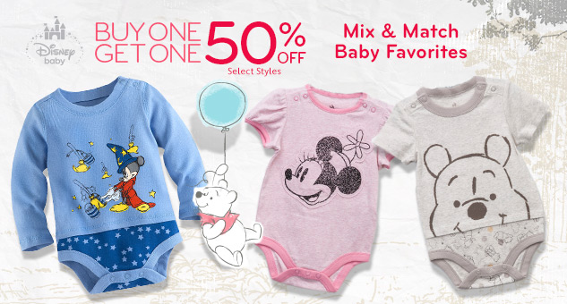 Baby Favorites! Buy One, Get One 50% Off