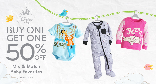 Buy One, Get One 50% Off Baby Favorite Tees, Bodysuits and Sleepwear