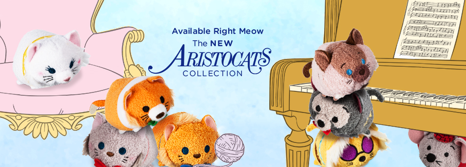 Disney Tsum Tsum - Available Right Meow - The New Aristocats Collection