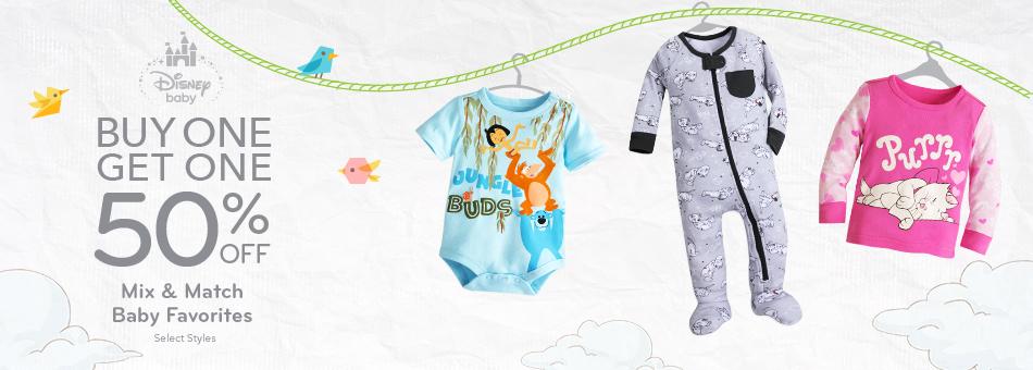 Buy One Get One 50% Off Baby Favorite Tees, Bodysuits and Sleepwear